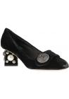 Dolce & Gabbana tacones cuadrados bombas en terciopelo negro