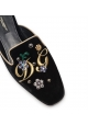 Zapatillas de mujer Dolce & Gabbana en terciopelo negro