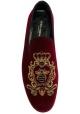 Mocasines para hombre Dolce & Gabbana en terciopelo burdeos