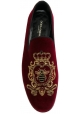 Mocasines para hombres Dolce & Gabbana en terciopelo burdeos