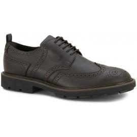 Zapatos de hombre de Tod's con cordones en cuero marrón oscuro