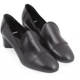 Zapatillas de tacón Pierre Hardy en piel de becerro negra