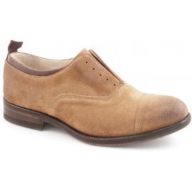 Zapatos American Womens Smith en cuero de gamuza de tabaco