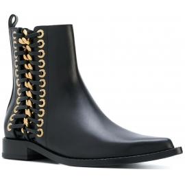 Botines Alexander McQueen para mujer en cuero negro