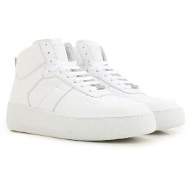 Zapatillas altas de hombre Maison Margiela en piel blanca