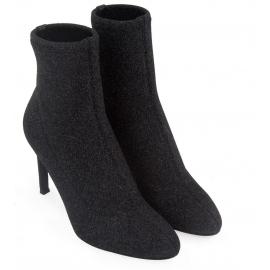 Giuseppe Zanotti tacones de aguja botines en negro brillo