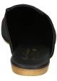Zapatillas ajustadas Gia Couture para mujer en tejido negro