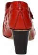 Zapatos de tacón block Céline en piel de becerro rojo