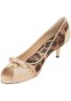 Bombas de escote Dolce & Gabbana en piel y tela beige