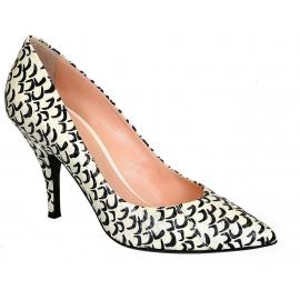 Zapato de corte Barbara Bui en piel de pitón blanco