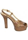 Sandalias con plataforma Dolce & Gabbana en cuero marrón medio