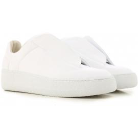 Zapatillas futuras de hombre Martin Margiela en piel blanca.
