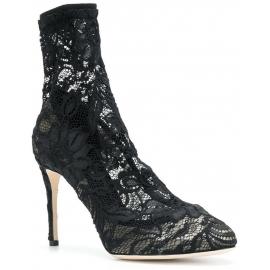 Zapatillas de tacón alto Dolce & Gabbana en satén negro