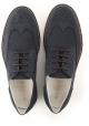 Zapatos con cordones para hombre de Hogan en piel de ante azul oscuro.