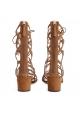Sandalias de gladiador Aquazzura Mumbai en gamuza beige