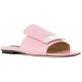Zapatillas Sergio Rossi en piel rosa claro.