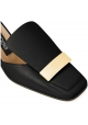 Zapatillas de tacón Sergio Rossi Sr1 en piel negra.