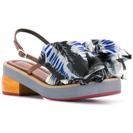 Marni gatito sandalias de tacón con gran lazo de tela