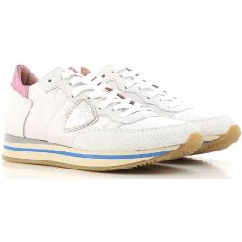 Zapatillas bajas de Philippe Model para mujer en piel blanca