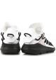 Zapatillas Kusari Y3 para hombre en piel y tela blanca.