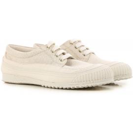 Zapatillas bajas de Hogan para mujer en tejido beige