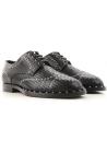 Cordón para hombre Dolce & Gabbana con corte láser en cuero negro