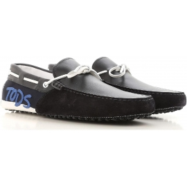 Mocasines de Tod's para hombre que conducen mocasines en gamuza negra.