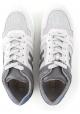 Zapatillas Hogan para hombre en piel gris y blanco roto.