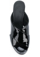 Sandalias de tacón alta Maison Margiela en charol negro