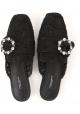 Zapatillas de mujer Dolce & Gabbana en satén negro.