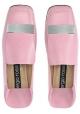 Mocasines de mujer Sergio Rossi en piel rosa.
