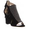 Sandalias de tacón Giuseppe Zanotti en cuero de ante negro