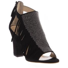 Sandalias de tacón Zanotti en cuero de ante negro