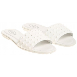 Zapatillas de mujer Tod en charol blanco.