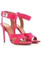 Sandalias tacones stiletto Givenchy en piel de ante fuxia