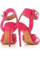 Sandalias de tacón de Givenchy en ante fucsia