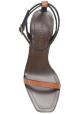 Sandalias de tacón alto Saint Laurent en cuero marrón