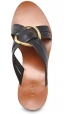 Sandalias de tacón chloé en piel negra.