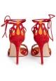 Gianvito Rossi Samba sandalias de tacón alto en ante rojo