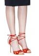 Sandalias de tacón alto Samba Gianvito Rossi en cuero de gamuza roja