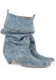 Botines de media pierna Stella McCartney para mujer en tejido Jeans