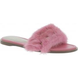 Valentino Zapatillas de mujer en piel rosa con pelo