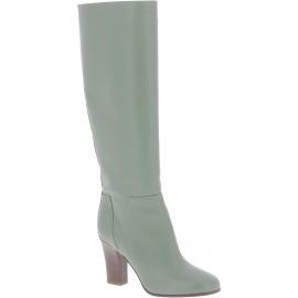 Valentino Botas altas para mujer en piel verde oliva