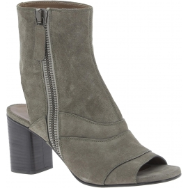 Chloè Botines de mujer abierto en la punta en gris taupe suede leather