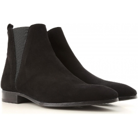 Dolce&Gabbana Botines para hombre en piel negra de ante con cremallera
