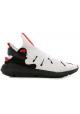 Y-3 Zapatillas de hombre de tejido técnico blanco con suela de goma negra.
