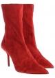 Aquazzura Botines para mujer en becerro de color rosso con tacón de aguja