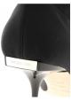 Sergio Rossi Botas medio tobilleras para mujer en tejido negro con tacón metálico