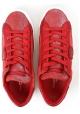 Philippe Model Zapatillas de mujer de piel de ante rojo con suela blanca