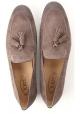 Tod's Mocasines para hombres con borlas de cuero de gamuza gris medio